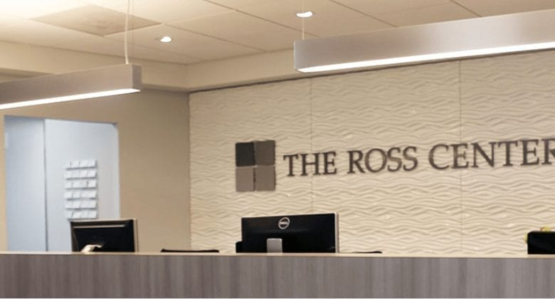 Image of the Ross Center reception desk