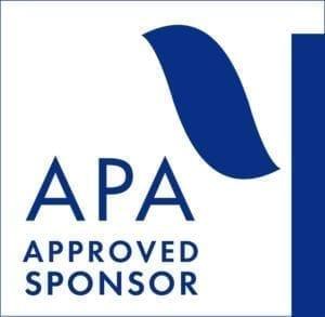 APA approved sponsor CE credit
